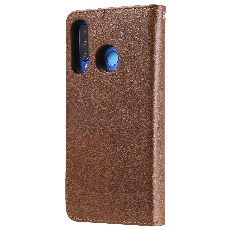 nova4e NEKTU110093 Black NEXCURIO Huawei P30 Lite//nova 4e Wallet Case with Card Holder Folding Kickstand Magnetic Leather Case Shockproof Flip Cover for Huawei P30Lite