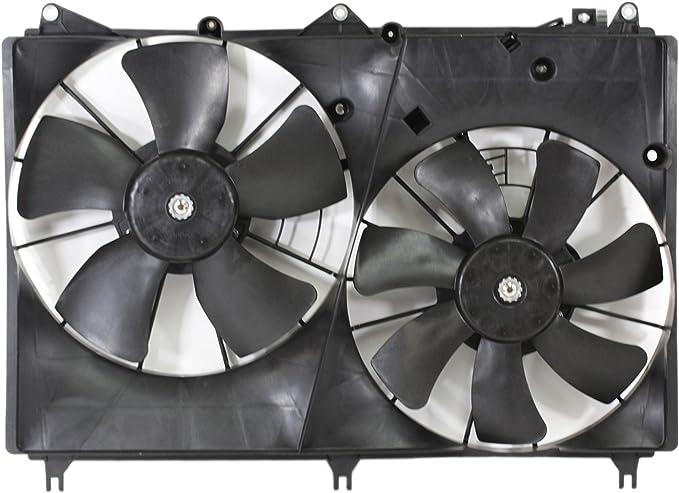 Dual radiador y condensador Ventilador de refrigeración acoplamiento directo 1776065j00 09 – 13 Suzuki Grand Vitara 2.4L L4/3.2L V6: Amazon.es: Coche y moto