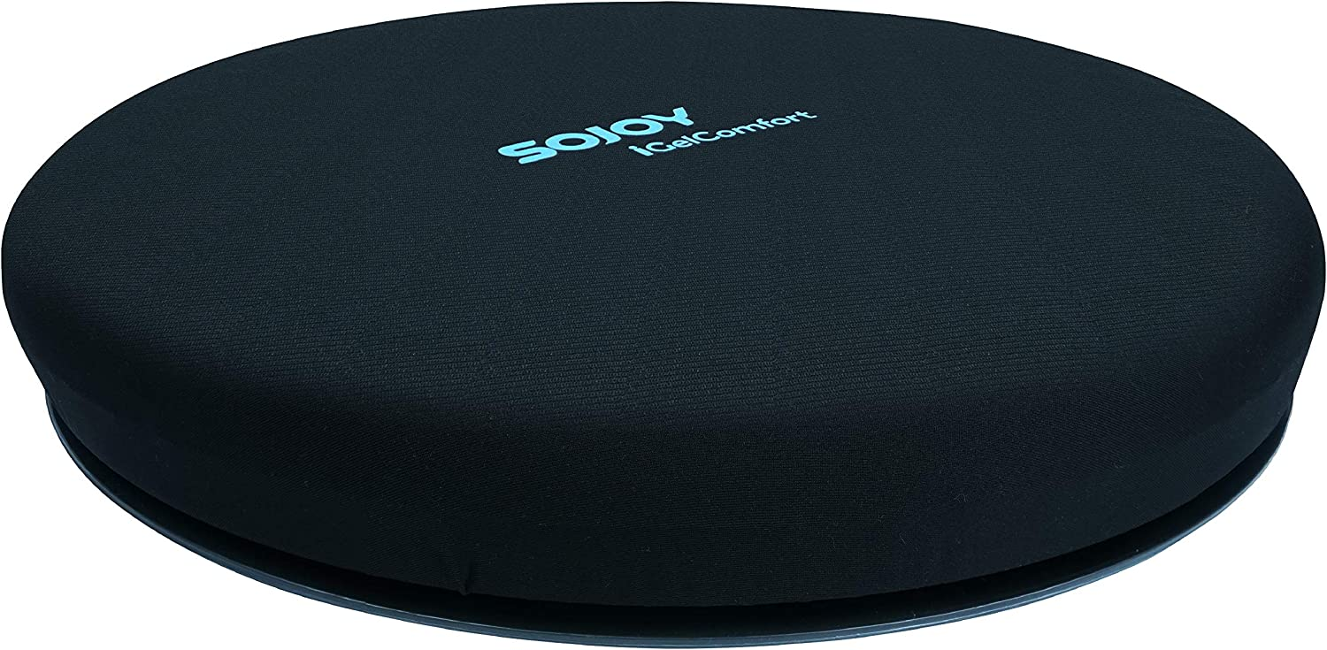 Sojoy iGelComfort Deluxe Gel Swivel Seat Cushion Featured with Memory Foam (13.5X13.5X1.75)