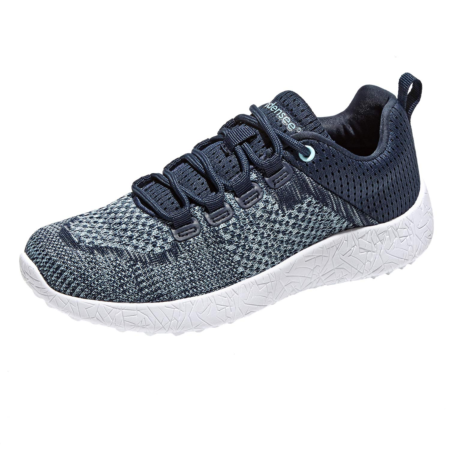 BODENSEE Unisex Adult Sneakers Athletic Sports Lace Up Lightweight Breathable Walking Trail Running Shoes