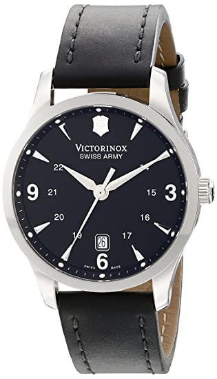 54e64a75b Victorinox Swiss Army Men's 241474 Alliance Black Dial and Strap Watch:  VICTORINOX: Amazon.ca: Watches
