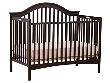 Amazon.com : Storkcraft Ravena Fixed Side Convertible Crib, Black  (Discontinued By Manufacturer) : Baby Crib With Changing Table And Dresser  Attached : Baby