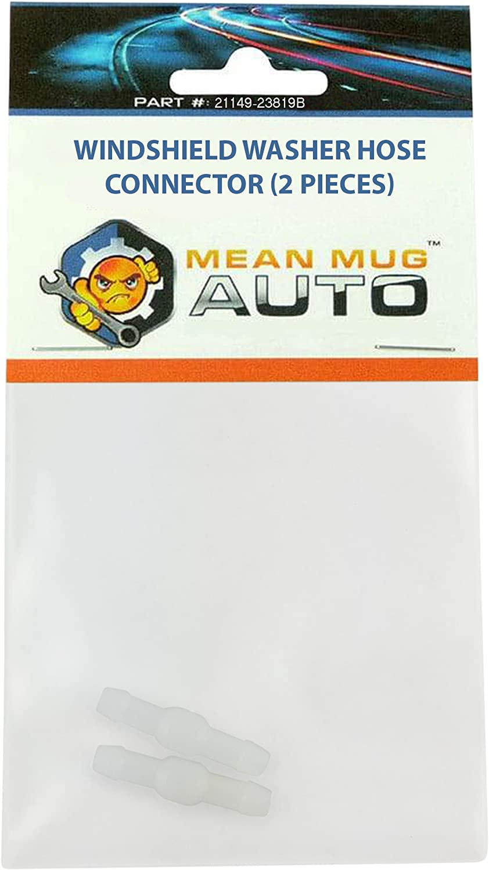 Mean Mug Auto 21149-23819B 2x Windshield Washer Hose Connector - Universal