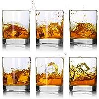 Whiskey Glasses-Premium 11 OZ Scotch Glasses Set of 6 /Old Fashioned Whiskey Glasses,Style Glassware for Bourbon/Rum…