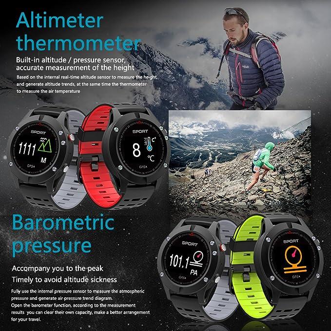 Reloj inteligente,Reloj deportivo con altímetro/ barómetro ...
