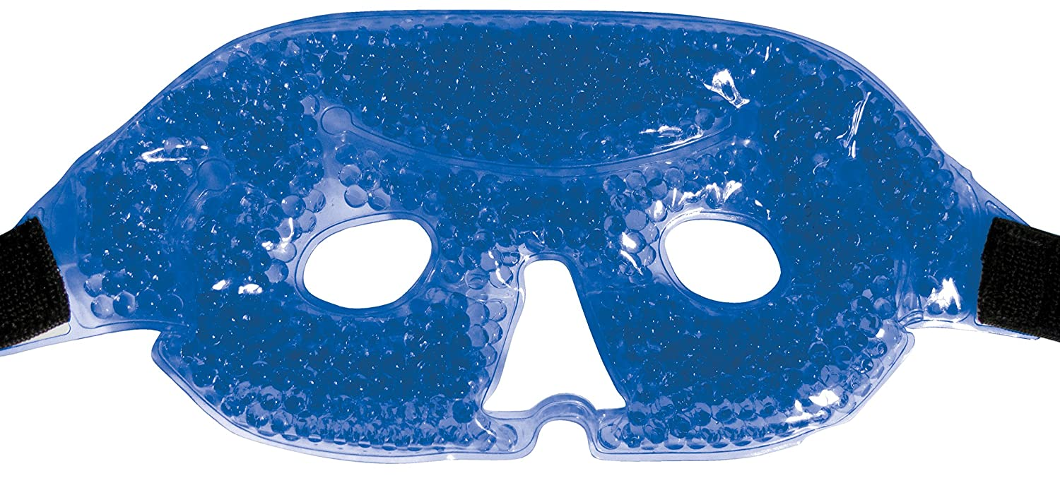 Gel Eye Mask for Puffy Eyes Treatment and Dark Circles - Ice Cold or Hot Packs Reusable Eyemask Gel - Cooling Cold or Heated Eye Compress Sinus Mask for Women and Men - Non Toxic and BPA Free