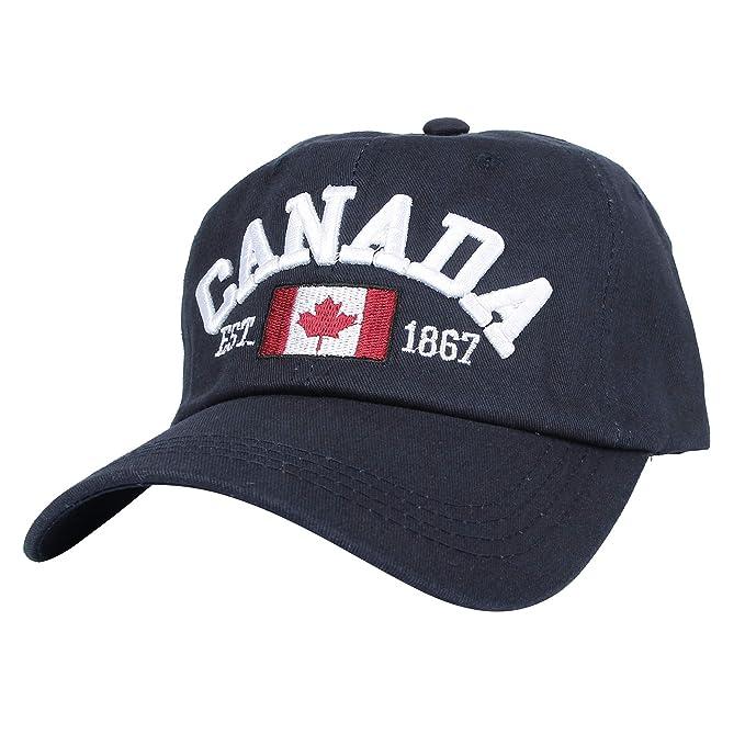 WITHMOONS Gorras de béisbol Gorra de Trucker Sombrero de Cotton Baseball Cap Canada Maple Flag Embroidery
