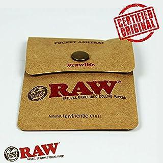 OutonTrip RAW Pocket Ashtray Tobacco Pouch Snap button close at amazon