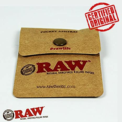 OutonTrip RAW Pocket Ashtray Tobacco Pouch Snap Button Close Ashtrays at amazon