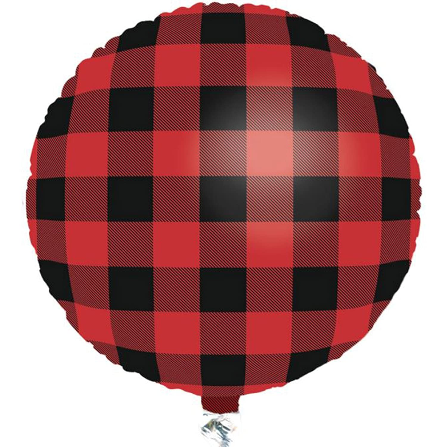Buffalo Plaid Balloon (18 Round Foil Mylar Balloon) Buffalo Plaid Party Collection by Havercamp
