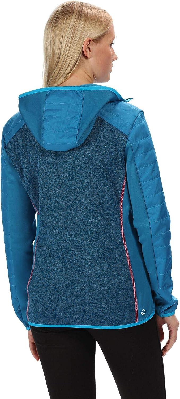 Regatta Damen Womens Haska Hybrid Water Repellent Wind Resistant Long Length Softshell Jacket petrol blau/petrol
