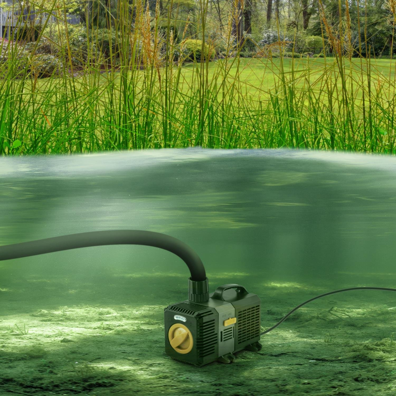 Waldbeck Lagoon 4500 Bomba para estanques de Acuario Sumergible • Extrae hasta 4500 l/h de Agua • 30W • Juego de adaptadores • para estanques o surtidores ...
