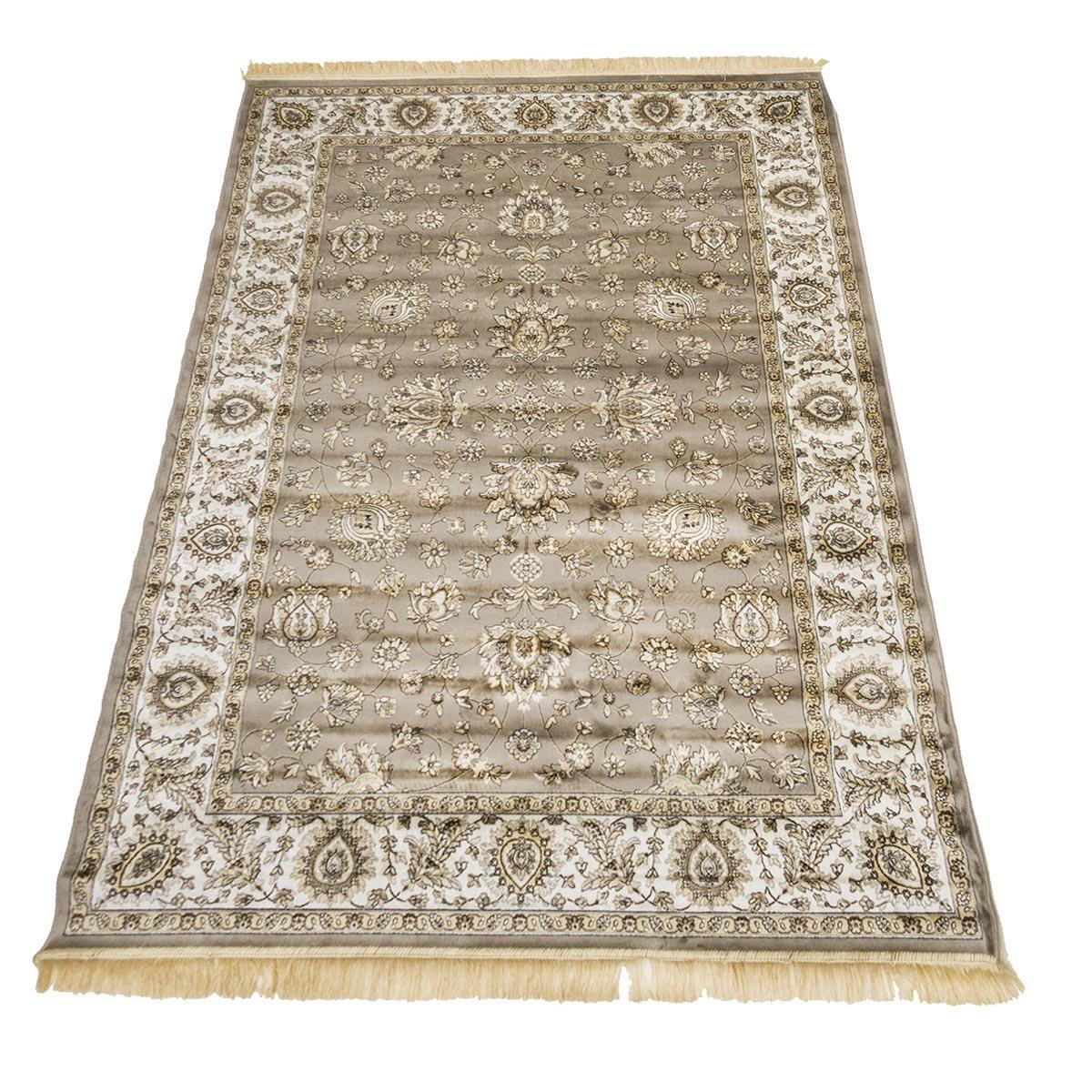 WEBTAPPETI Klassisch Teppich Orient Sarouk Top Preis Guenstig Teppich RUBINE 492-grau 160X230