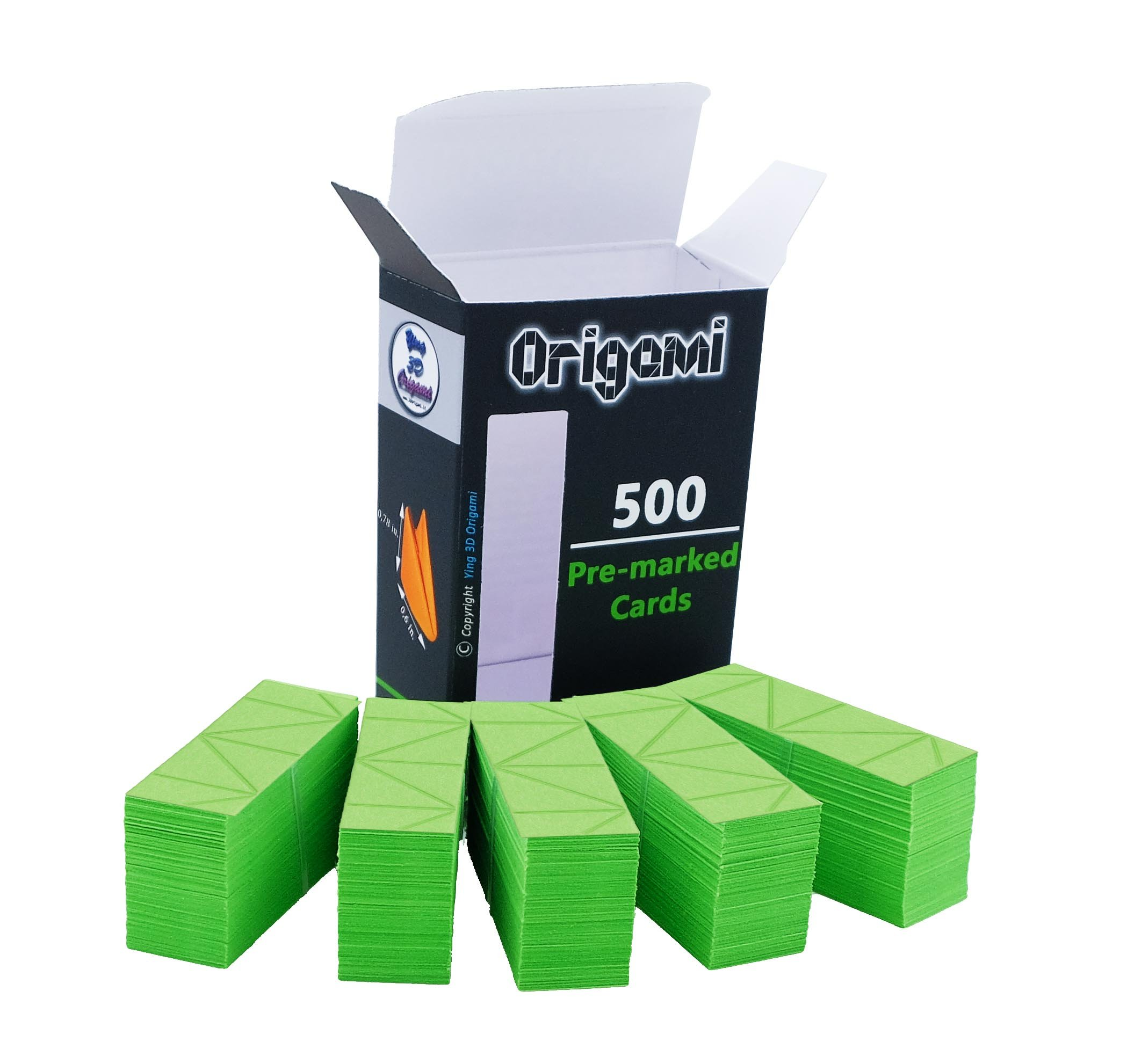 3D Origami paper - 500 Light Green Pcs. - Pre-Marked - Easy And Fast Folding - Equal To A4 1/32 0,44lb English And Italian Printed Instructions - Online Video-Tutorials - Made In Italy (Pistacchio 54)