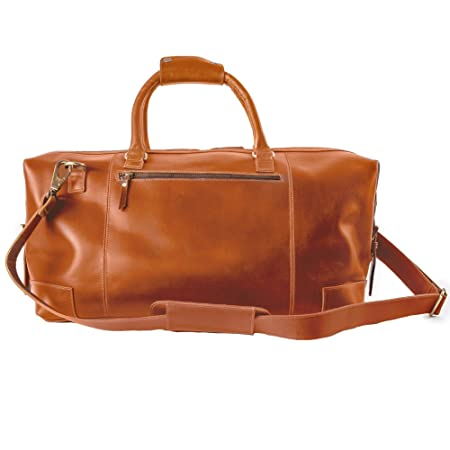 9dfeb8cac4e4 Niche Lane Leather Holdall Weekender Travel Duffel Bag Aviator for Men and  Women (Tan)  Amazon.co.uk  Luggage