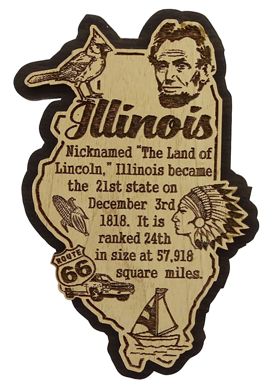 USA Washington State Map Wooden Magnet Souvenir Fridge Magnet Gift