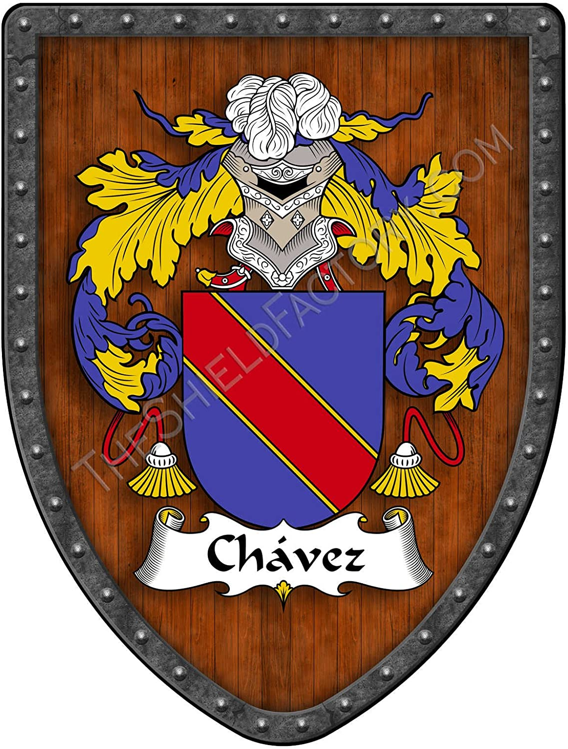 /& Mrs CHAVEZ Mexican Flag Personalized Shield Metal Sign 211110009021 Mr