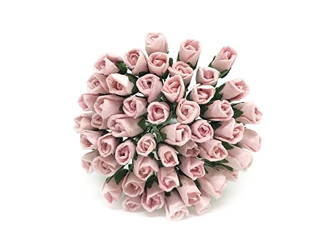 Amazon 1cm blush pink paper roses mulberry paper flowers 1cm blush pink paper roses mulberry paper flowers miniature rose flower diy bouquet mightylinksfo