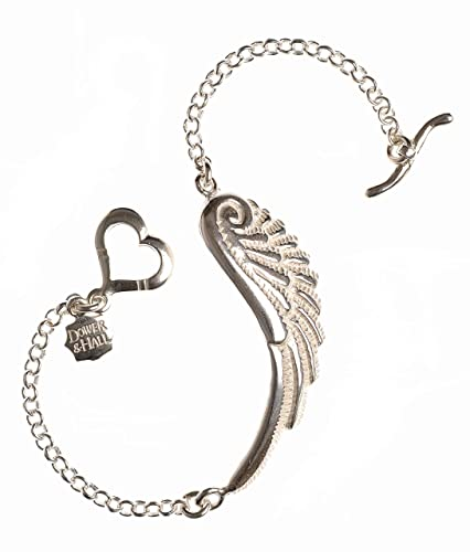 e7da17875f4 Dower & Hall Angel - Solid Sterling Silver Angel Wing Belcher Chain 19cm  Bracelet: Amazon.co.uk: Jewellery