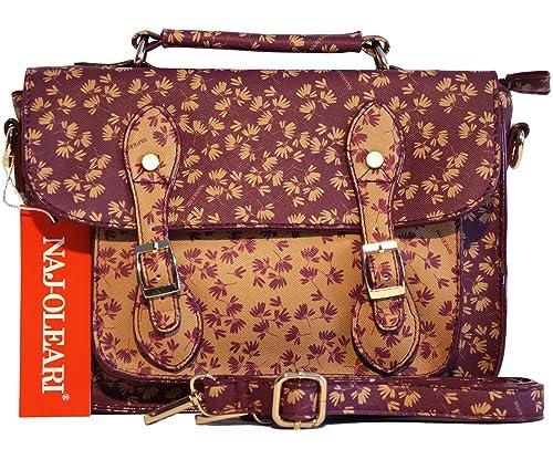 fa25a4a253 Naj Oleari Borsa donna linea Minù in materiale sintetico modello cartella  media con manico e tracolla