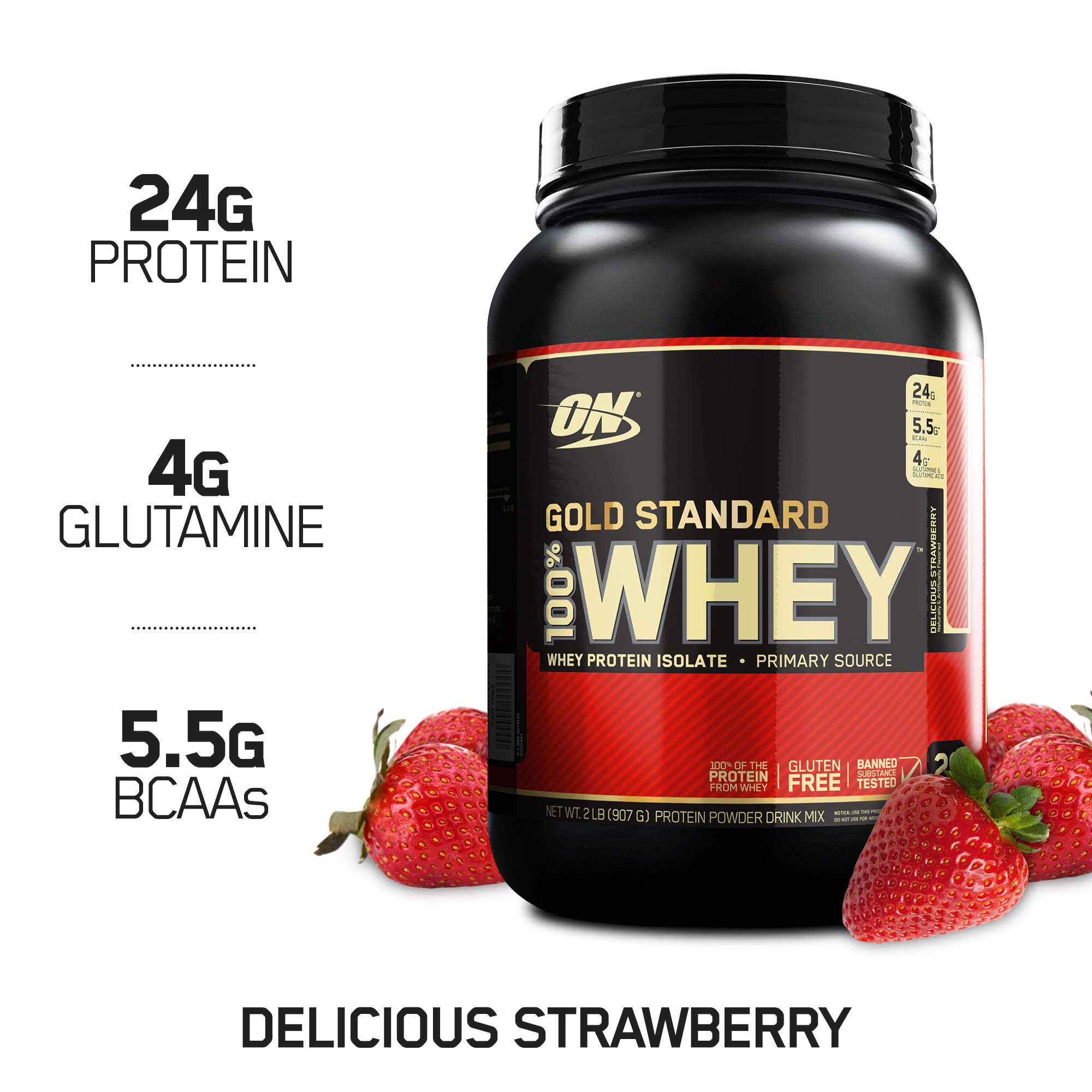 OPTIMUM NUTRITION Gold Standard 100% Whey Protein Powder, Delicious Strawberry by Optimum Nutrition