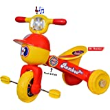 Goyal's Strong & Durable Mr. Rambo Baby Tricycle Ride-on Bicycle for Baby (red)