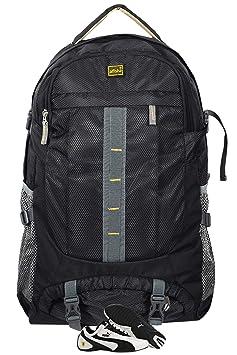 Alfisha Water Proof Mountain Rucksack/Hiking/Trekking/Camping Bag/Backpack 40 ltrs Rucksack with Shoe Compartment(Black)