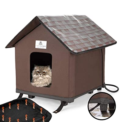 Buy Furhome Collective Heated Cat Houses For Indoor Cats Elevated Waterproof And Insulated A Safe Pet House And Kitty Shelter For Your Cat Or Small Dog To Stay Warm Dry