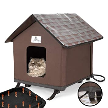 Heated Cat Houses For Indoor And Outdoor Cats Elevated Waterproof And Insulated A Safe Pet House