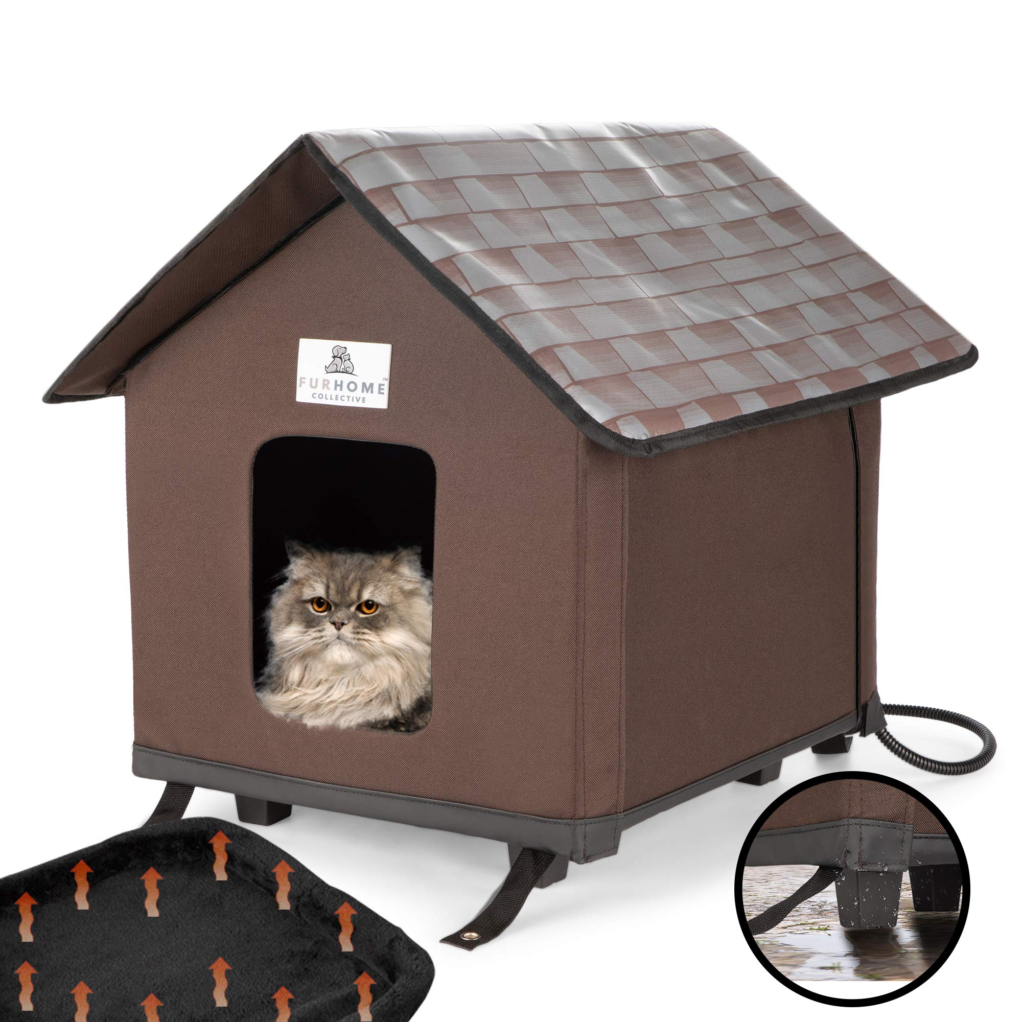 Furhome Collective Heated Cat Houses For Indoor Cats Elevated Waterproof And Insulated A Safe Pet House And Kitty Shelter For Your Cat Or Small Dog To Stay Warm Dry Buy