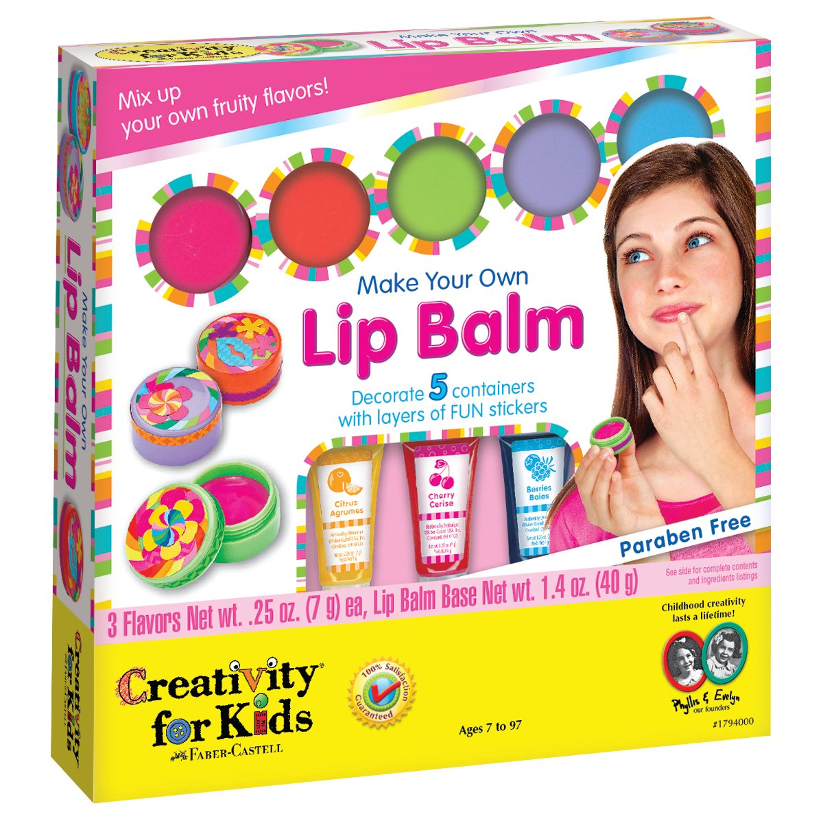 Creativity for Kids Make Your Own Lip Balm - Create 5 Fruity Lip Balms
