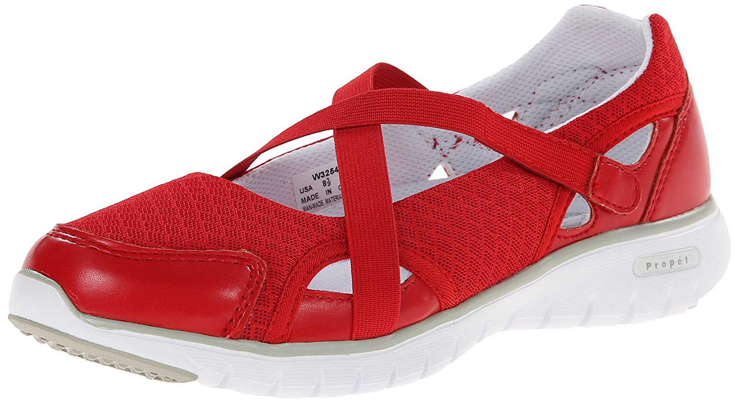 Propet Women's Travellite MJ Walking Shoe B00MUB8Q1M 6.5 B(M) US|Red
