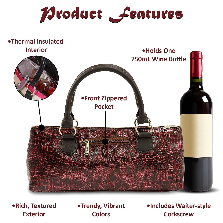 Primeware Clutch Insulated Single Bottle Wine Wine Wine Tote by PrimeWare B00E5S1X8G Seiher 9552c9