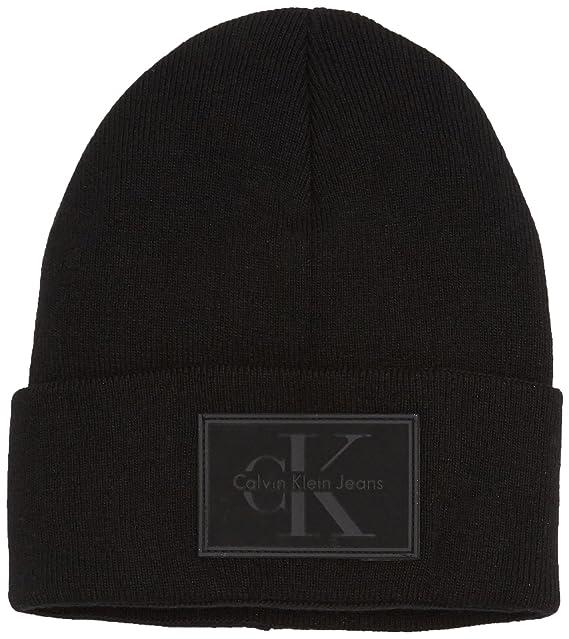 3f551f135f1 Calvin Klein Beanie HAT Man RE-Issue K50K503426 Black  Amazon.ca ...