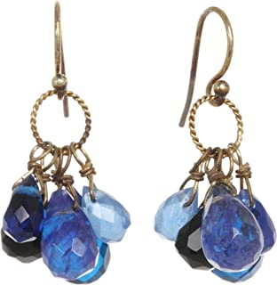 product image for A V Max Blue Cluster Drop Earrings