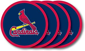 MLB St. Louis Cardinals Vinyl Coaster Set (Pack of 4)