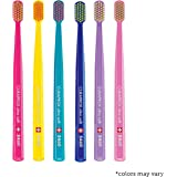 Ultra soft toothbrush, 6 brushes, Curaprox Ultra Soft 5460. Softer feeling & better cleaning, in amazing vivid colours. by Curaprox