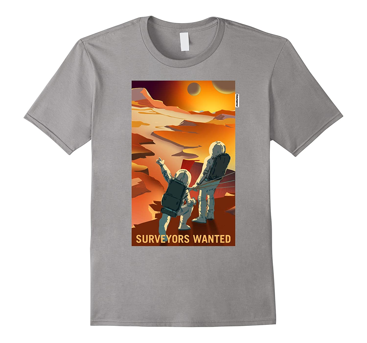 Surveyors Wanted on Mars T-shirt Vintage Poster Occupy Mars-TD