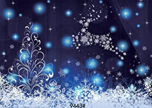 SJOLOON 7 x 5 FT Christmas Night theme CP Pictorial cloth Photography Background Computer-Printed Vinyl Backdrop JLT9443