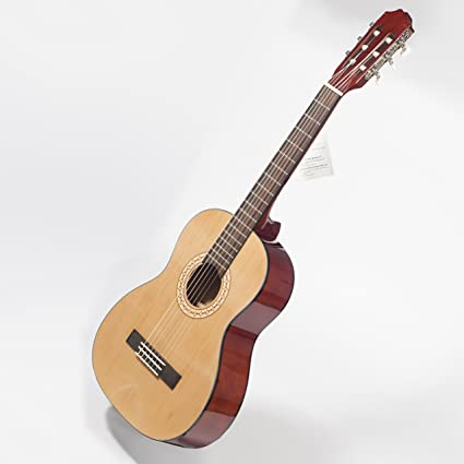 Paquete de Guitarra Clásica 3/4 Superior para Niños Color Natural - De 9 a