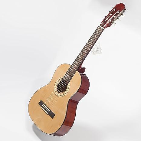 Guitarra española 3/4 para niños para zurdos, de 9 a 12 años,