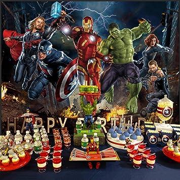Fondo De Los Vengadores Fondo Marvel Superhéroe Cumpleaños Para Niños Suministros De Fiesta Niños Banner Decoraciones De Fotografía Camera Photo