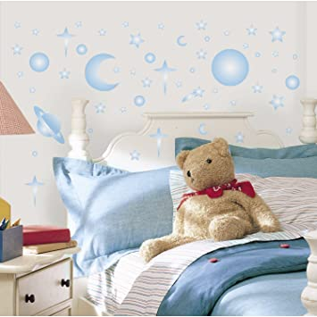 RoomMates RMK1141SCS Celestial Glow In The Dark Peel U0026 Stick Wall Decals,  258 Count