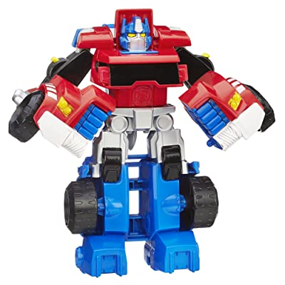 Playskool Heroes Transformers Rescue Bots Optimus Prime Action Figure, Ages 3-7 ( Exclusive): Toys & Games
