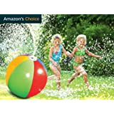 Yeslike Splash and Spray Ball, 30in-Diameter Inflatable Sprinkler Water Ball Outdoor Fun Toy