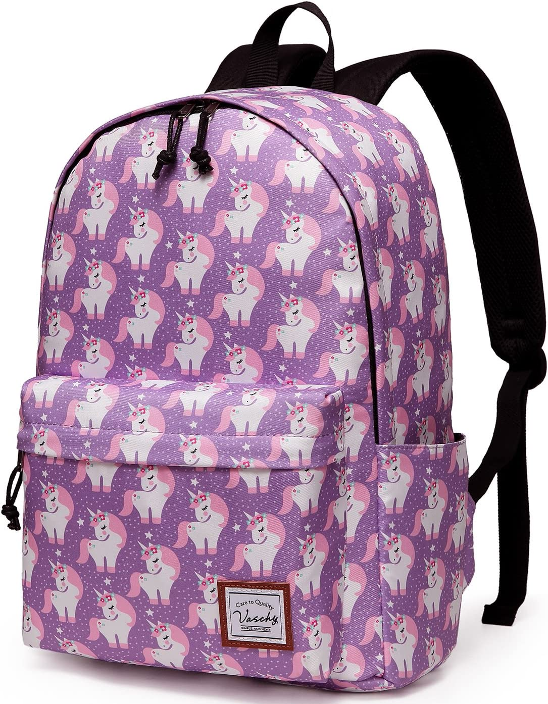 Backpacks for School Fashion Backpack for Women and Teens with Laptop Sleeve, Groovy Abstract Pink and Turquoise Swirl with Flowers