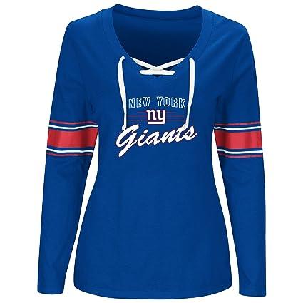 97d81d6ea Amazon.com   NFL New York Giants Women L S JERSEY V NECK TEE