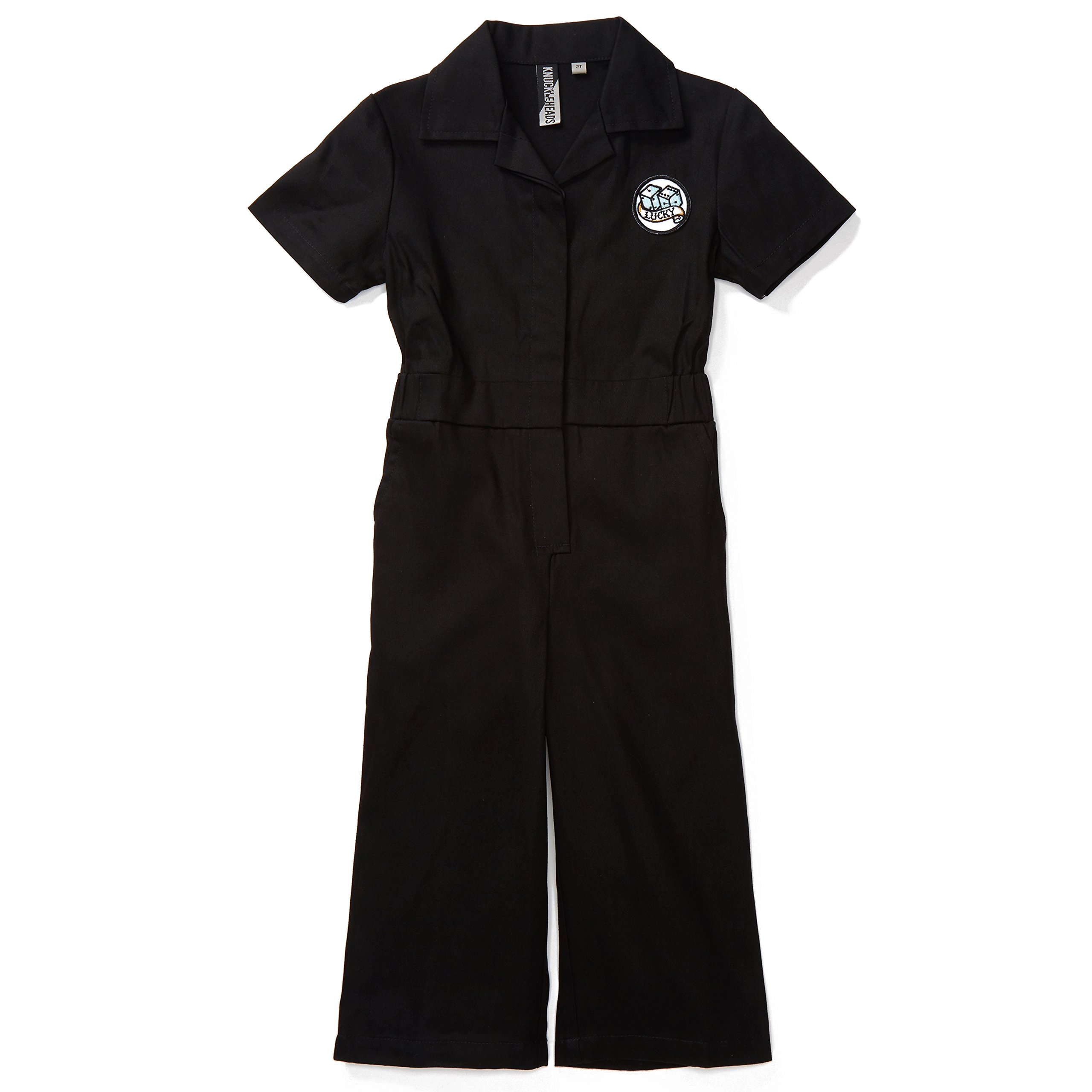 Born to Love Knuckleheads - Infant and Baby Boy Grease Monkey Coveralls (2T, Girl Black)