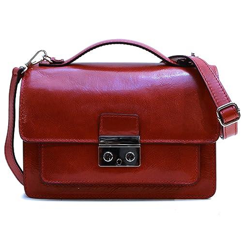 d8745b5f776f Amazon.com  Floto Milano Mini Full Grain Leather Satchel Handbag  Shoes