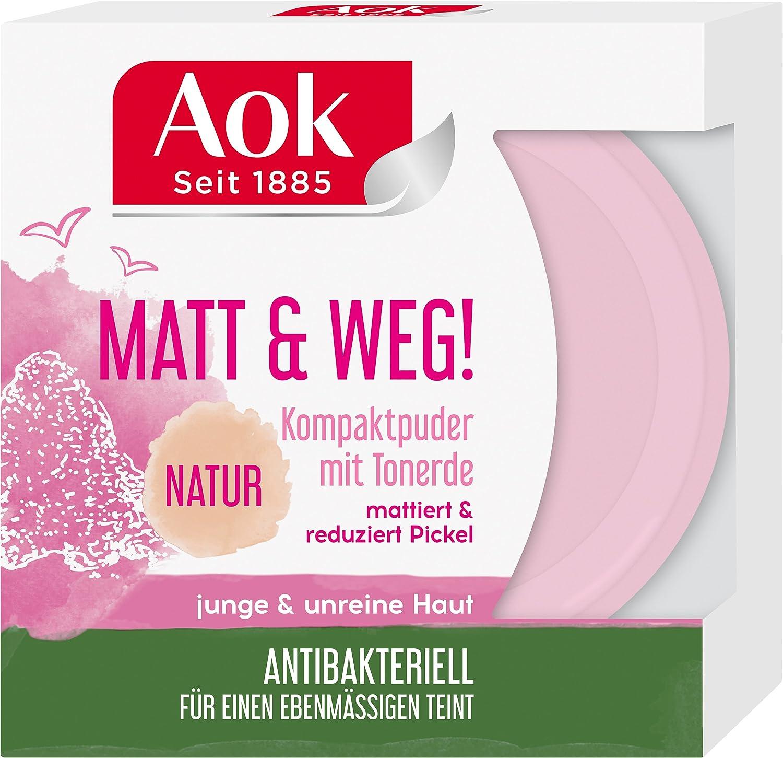 Aok Mattierendes Kompaktpuder mit Tonerde, 6er Pack (6 x 1 Stück) 6er Pack (6 x 1 Stück) AFPU